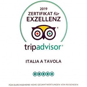 Tripadvisor Auszeichnung 2019 ItaliaTavola